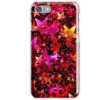 Red and Gold Star Pattern iPhone Case/Skin