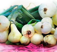 Fresh Onions by Nadya Johnson