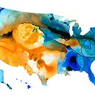 United States Map - America Map 9 - By Sharon Cummings by Sharon Cummings