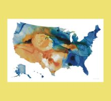 United States Map - America Map 9 - By Sharon Cummings Kids Tee