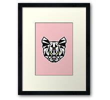 Crystal Cat - Pink Framed Print