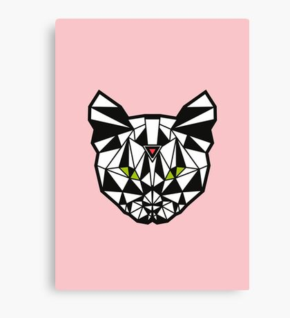 Crystal Cat - Pink Canvas Print