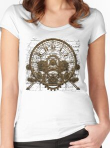 Vintage Steampunk Time Machine #1A Women's Fitted Scoop T-Shirt