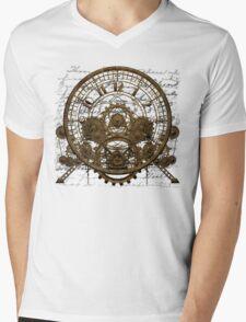 Vintage Time Machine #1A Mens V-Neck T-Shirt