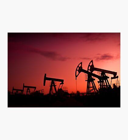 Oil pumps. Photographic Print