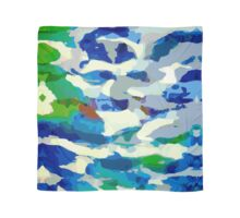 Abstract Army Pattern in Blue Scarf