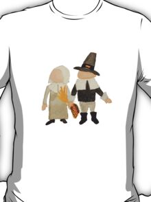 Thanksgiving Pilgrim Toddler Girl and Boy Couple T-Shirt