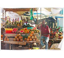 Fruits, Vegetables & Animals Bazar in Nairobi, KENYA Poster