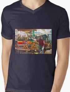 Fruits, Vegetables & Animals Bazar in Nairobi, KENYA Mens V-Neck T-Shirt