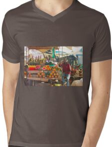 Fruits, Vegetables & Animals Bazar in Nairobi, KENYA Mens V-Neck T-Shirt