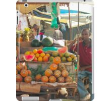 Fruits, Vegetables & Animals Bazar in Nairobi, KENYA iPad Case/Skin