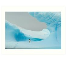 All alone in the ice Art Print