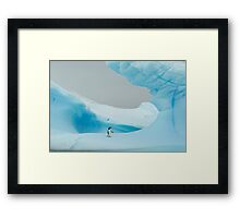 All alone in the ice Framed Print