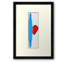 Heart through blue portal (version 1) Framed Print