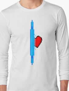 Heart through blue portal (version 1) Long Sleeve T-Shirt