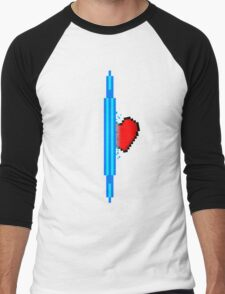 Heart through blue portal (version 1) Men's Baseball ¾ T-Shirt