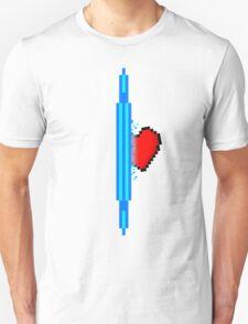 Heart through blue portal (version 1) Unisex T-Shirt