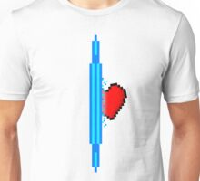 Heart through blue portal (version 1) Unisex T-Shirt