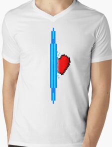 Heart through blue portal (version 1) Mens V-Neck T-Shirt