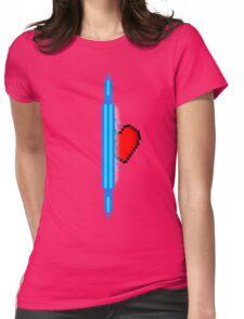 Heart through blue portal (version 1) Womens Fitted T-Shirt