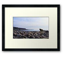 Sun, sea, sky and rocks Framed Print