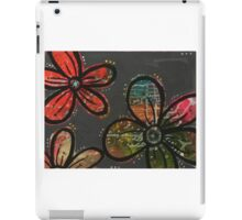 Gray Blossom Pattern iPad Case/Skin