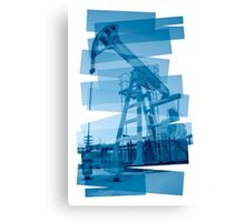 Pump jack abstract background. Canvas Print