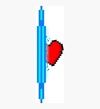Heart through blue portal (version 2) Photographic Print