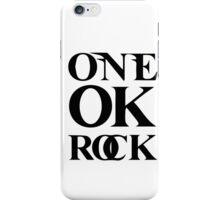 ONE OK ROCK (Alt Logo - Black) iPhone Case/Skin