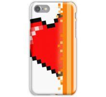 Heart through orange portal (version 2) iPhone Case/Skin