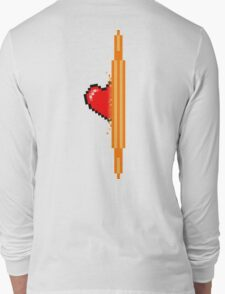 Heart through orange portal (version 2) Long Sleeve T-Shirt