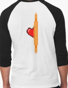 Heart through orange portal (version 2) Men's Baseball ¾ T-Shirt