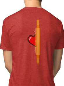 Heart through orange portal (version 2) Tri-blend T-Shirt