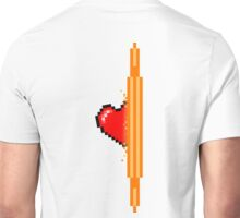 Heart through orange portal (version 2) Unisex T-Shirt