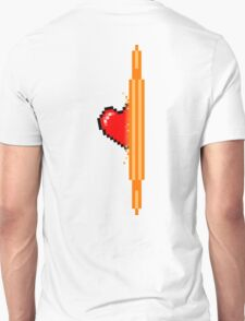 Heart through orange portal (version 2) T-Shirt