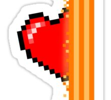 Heart through orange portal (version 2) Sticker
