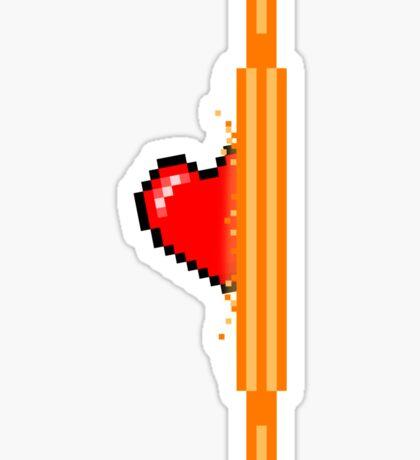 Heart through orange portal (version 2) Sticker