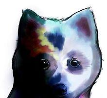 Watercolour Pup  by Meghan Hancock