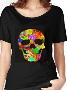 SKULL LEAFY Women's Relaxed Fit T-Shirt