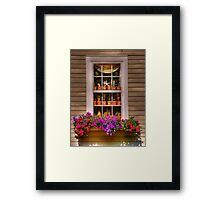 starfish in the window Framed Print