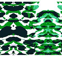 Abstract Army Pattern in Photographic Print