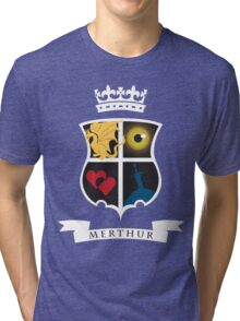 Merthur Coat of Arms Tri-blend T-Shirt