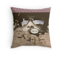 God, guns and glory Throw Pillow