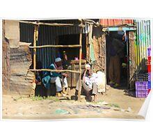 Street Vendors in Nairobi, KENYA Poster