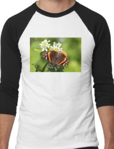 Red Admiral Butterfly Men's Baseball ¾ T-Shirt