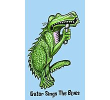 Gator Sings The Blues  Photographic Print