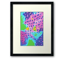 Purple Abstract Watercolor Painting Framed Print