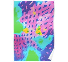 Purple Abstract Watercolor Painting Poster