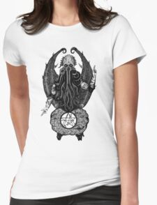 Cthulhu Baphomet Womens Fitted T-Shirt