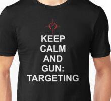 Keep Calm and Gun: Targetting [Matrix] Unisex T-Shirt